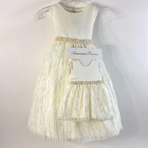NWT, Girl's 2T American Princess Dress Set